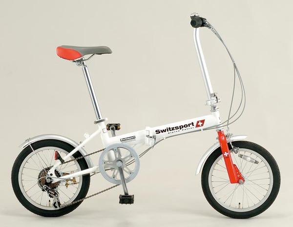 エスコ ESCO 16インチ 折畳み式自転車 EA986Y-12A [I270302]