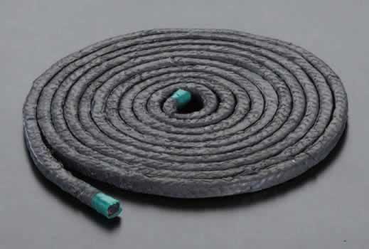 エスコ ESCO 11.1mmx3m テフロン含浸炭化繊維パッキン EA351BF-6 [I250323]