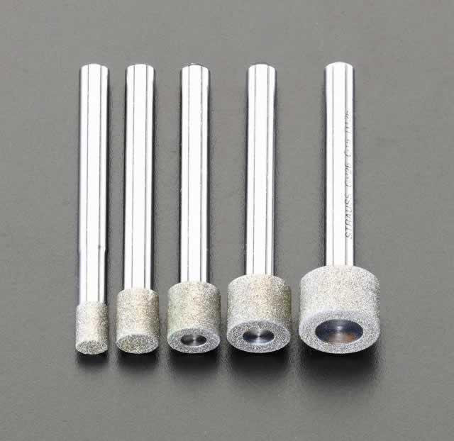 エスコ ESCO 5本組/6mm軸 ダイヤモンドバーセット EA819SY-61 [I140213]