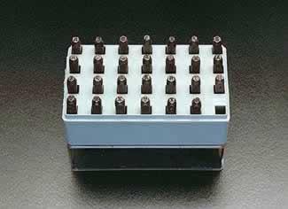 エスコ ESCO 1.6mm 英字 刻印セット EA591HS-1 [I060808]
