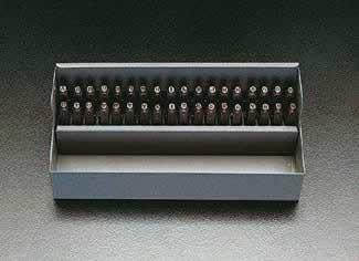 【◆◇エントリーで最大ポイント5倍!◇◆】エスコ ESCO 1.6mm 英字・数字 刻印セット EA591HT-1 [I060808]