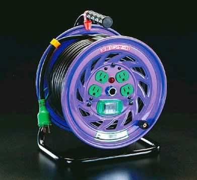 【◆◇マラソン!ポイント2倍!◇◆】エスコ ESCO AC100V/15A/50m 電工ドラム(漏電遮断器付) EA815DJ-50 [I140601]