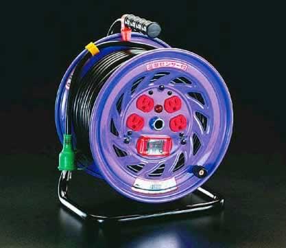 【30日限定☆カード利用でP14倍】エスコ ESCO AC100V/15A/30m 電工ドラム(過負荷漏電遮断 EA815DK-30 [I140601]