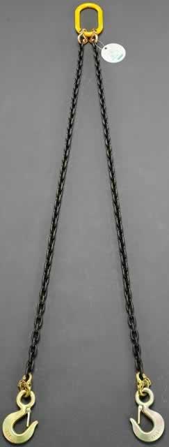 【◆◇エントリーで最大ポイント5倍!◇◆】エスコ ESCO 2.1tonx1.5m スリングチェーン(2本吊り) EA981VA-37 [I170803]