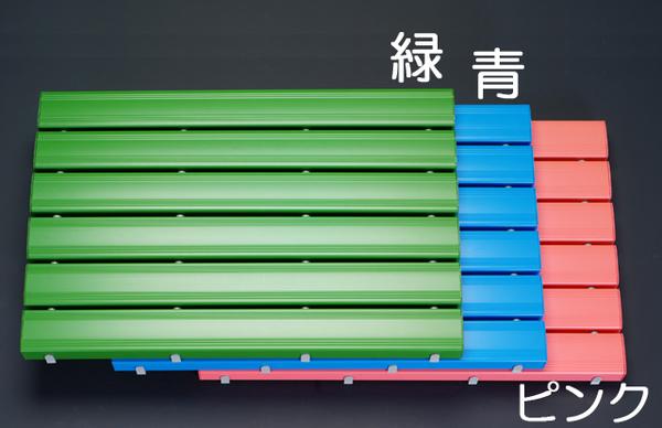 【◆◇エントリーで最大ポイント5倍!◇◆】エスコ ESCO 600x1160mm すのこ(プラスチック製/グリーン) EA997RJ-24 [I240500]