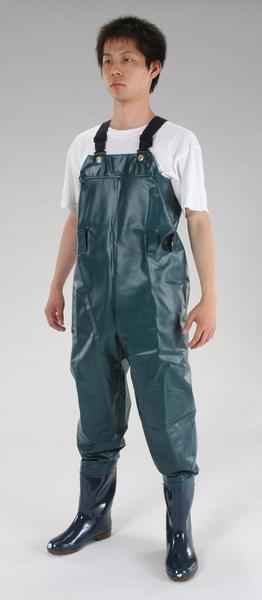 エスコ ESCO 25.5cm 耐油水中長靴(グリーン) EA998XD-34 [I260122]