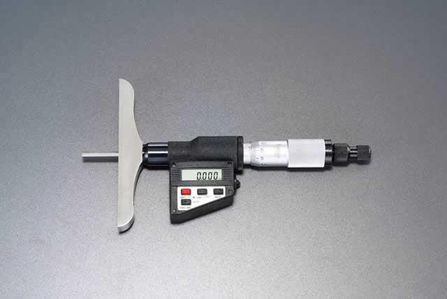 エスコ ESCO 0-150mm デジタルディプスゲージ(PC対応) EA725FC-41 [I110921]