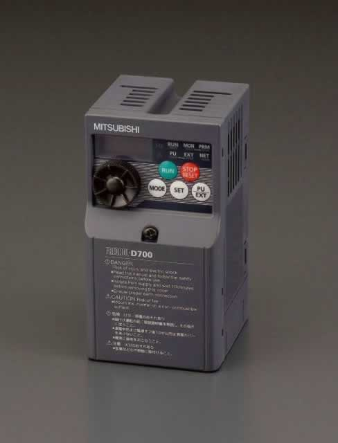 エスコ ESCO 200V/0.1kw インバーター(3相モーター用) EA940MX-1 [I200207]
