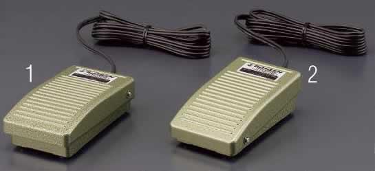 エスコ ESCO AC250V [1a]2連フットスイッチ(小型機器用) EA940FB-3 [I200219]