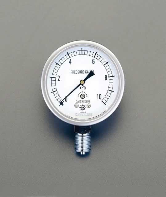 エスコ ESCO G 3/8/ 75mm/0-2.0KPa 微圧計 EA729DW-2 [I111105]