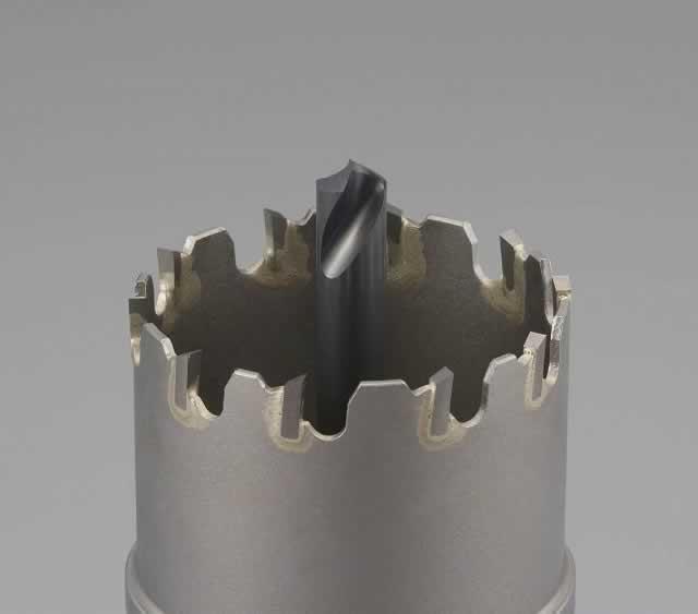 【◆◇エントリーで最大ポイント5倍!◇◆】エスコ ESCO 80mm超硬付パイプ用ホールソー EA823MC-80 [I140103]