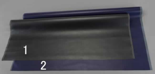 エスコ ESCO 1420mmx2.0m ポリエステル人工皮革(黒) EA911AR-1 [I240308]