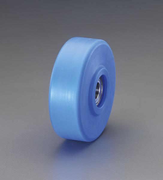 エスコ ESCO 75x32mm 車輪(ステンレス製ベアリング付・MCナイロン製) EA986WC-75 [I170302]