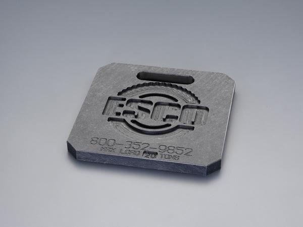 エスコ ESCO 300x300x25mm/20ton ジャッキ用プレート EA993DS-11 [I060714]