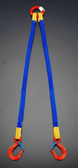 【◆◇エントリーで最大ポイント5倍!◇◆】エスコ ESCO 1.0tonx1.5m [2本吊り]金具付スリング EA981FD-12A [I170804]