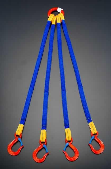 【◆◇エントリーで最大ポイント5倍!◇◆】エスコ ESCO 2.0tonx1.0m [4本吊り]金具付スリング EA981FE-21A [I170804]