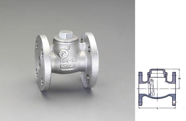 エスコ ESCO 1・1/4 スイングチャッキバルブ(フランジ型) EA465AB-12 [I180107]