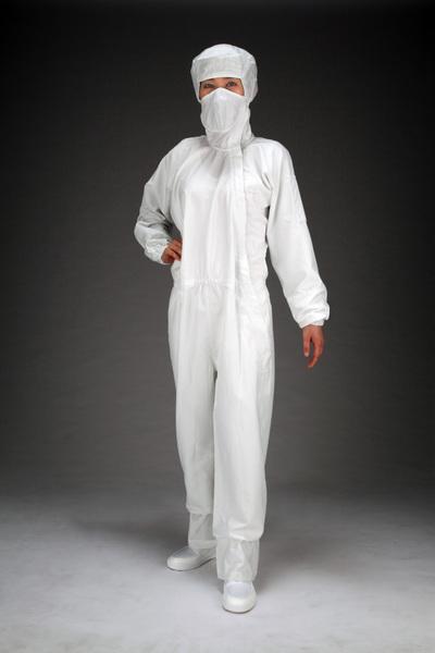 エスコ ESCO [3L] クリーンルーム用フード付継ぎ服(白/サイドファスナー) EA996DC-4 [I260126]