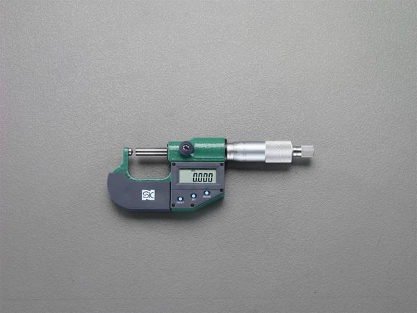 エスコ ESCO 0-25mm マイクロメーター(デジタル/片球面) EA725EH-46 [I110916]