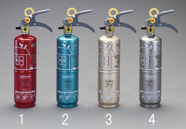 エスコ ESCO 1.0L 住宅用消火器(エメラルドグリーン) EA999MK-2 [I260406]