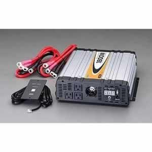 エスコ ESCO DC12V/AC100V・1800W 正弦波インバーター EA812JD-11 [I270302]