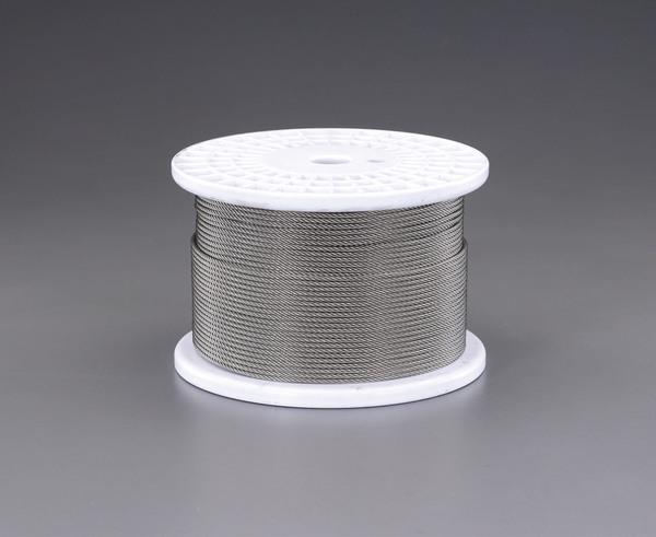 エスコ ESCO 6.0mmx200m/7x19 ワイヤーロープ(ステンレス製) EA628SR-60 [I210714]