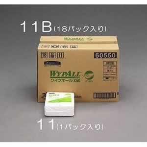 エスコ ESCO 335x343mm ペーパータオル(工業用/四つ折/18パック EA929AW-11B [I130302]