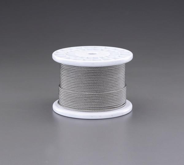 エスコ ESCO 5.0mmx100m/7x19 ワイヤーロープ(ステンレス製) EA628SR-5 [I210714]