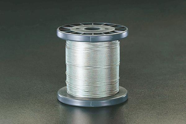 エスコ ESCO 5.0mm x100m/7x 7 ワイヤーロープ(ステンレス製) EA628SR-150 [I210714]