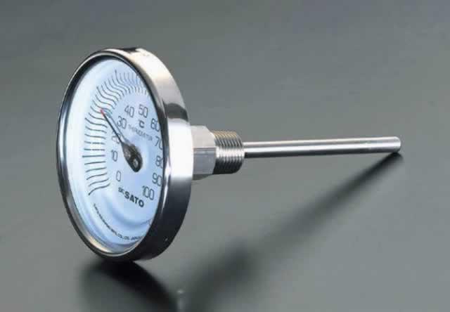 エスコ ESCO 0-200℃/200mm バイメタル式温度計 EA727AB-19 [I110410]