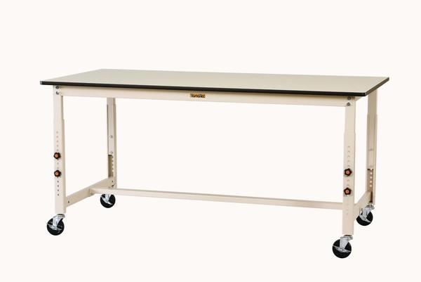 エスコ ESCO 1800x750x750-1000mm ワークテーブル (キャスター付) EA956TR-11 [I270106]