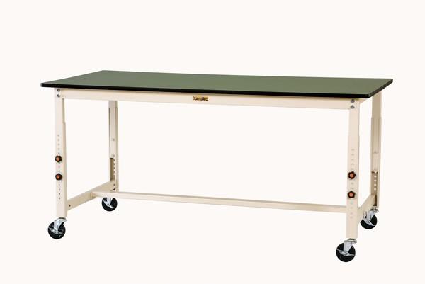 エスコ ESCO 1800x900x750-1000mm ワークテーブル (キャスター付) EA956TR-32 [I270106]