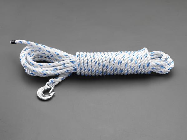 【★4時間限定!店内最大P10倍!★】エスコ ESCO 12.7mmx30m ロープ(フック付) EA988ME-130 [I171107]