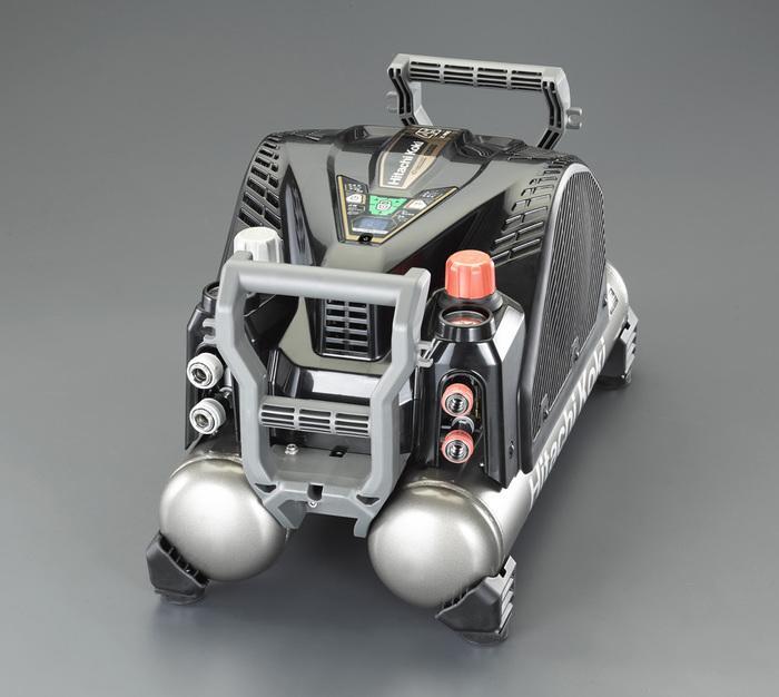 エスコ ESCO 【個人宅不可】 AC100V/ 1.4kw 高圧エアーコンプレッサー(タンク 12L) EA116HD-2E [I160101]