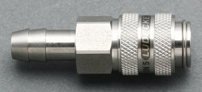 【◆◇マラソン!ポイント2倍!◇◆】エスコ ESCO 4mm ウレタンホースカップリング(ステンレス製/ワンプッシュ) EA140GL-204 [I160907]