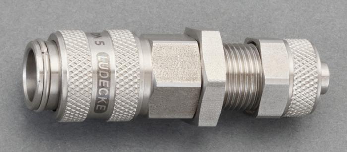 エスコ ESCO 4x6mm ウレタンホースカップリング(隔壁/ステンレス製) EA140GL-406 [I161112]