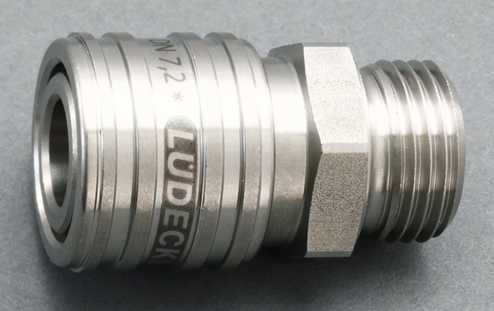 エスコ ESCO G 1/4 雄ねじカップリング(ステンレス製/ワンプッシュ) EA140GT-2 [I160907]