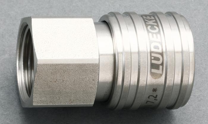 エスコ ESCO G 1/4 雄ねじカップリング(ステンレス製/ワンプッシュ) EA140GT-102 [I160907]