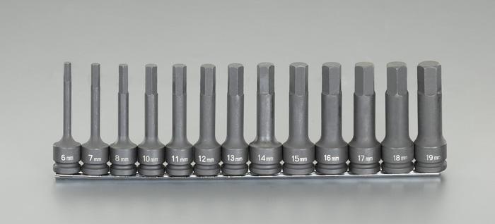 エスコ ESCO 【個人宅不可】 1/2DR/  6-19mm(13個組)インパクト[Hex]ソケット EA164DV-800 [I080508]