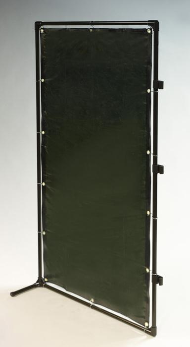 エスコ ESCO 【個人宅不可】 1000x2000mm 溶接作業フェンスセット(緑色) EA334BM-20G [I030204]