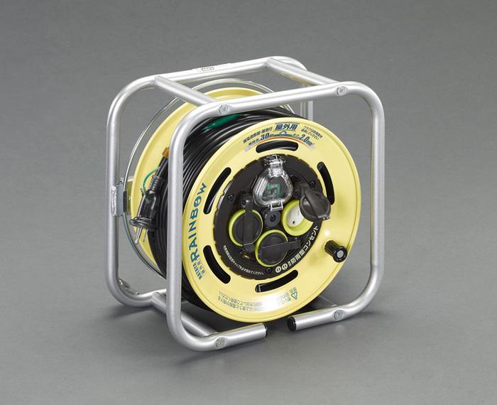 エスコ ESCO 【個人宅不可】 AC125V/15A/30m コードリール(防雨・漏電遮断器付 EA815BF-45 [I140608]