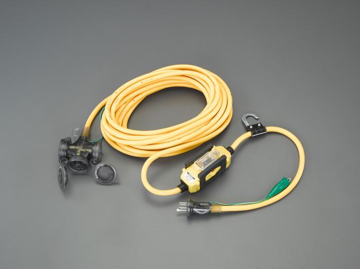 エスコ ESCO 15A x 10m 漏電遮断器付延長コード EA940MH-22 [I140608]