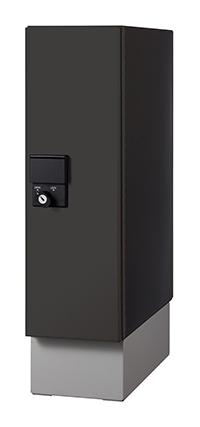 エスコ ESCO 【個人宅不可】 160x400x600mm 宅配ボックス(ブラック) EA951FC-42 [I270203]