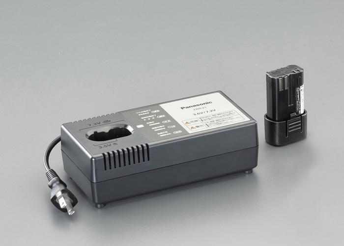 エスコ ESCO 【個人宅不可】 DC7.2V 充電池&充電器セット EA813P-20 [I140408]