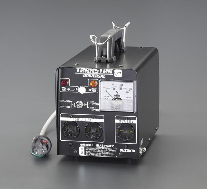 エスコ ESCO 【個人宅不可】 AC100-200→AC230-100V 昇圧・降圧トランス EA815ZJ-1 [I140608]
