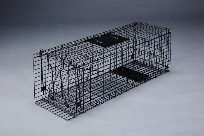エスコ ESCO 280x890x330mm 動物捕獲器(折りたたみ式) EA650-9 [I270303]