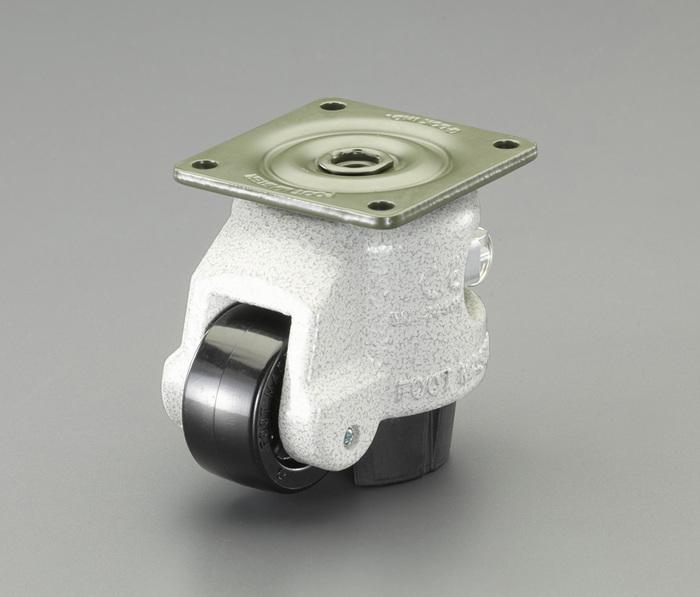 エスコ ESCO 63mm レベリングキャスター(ブレーキ付・自在) EA986TL-22 [I170301]