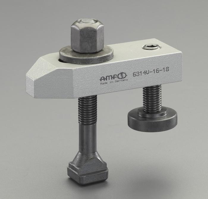 エスコ ESCO M20/160mm サポートスクリュー付テーパークランプ EA637BD-20B [I230110]