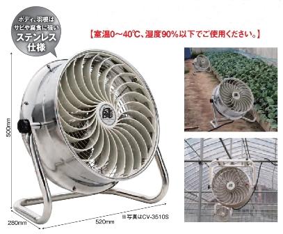 【★店内ポイント2倍!★】ナカトミ 35cm SUS 循環 送風機 風太郎 CV-3510S [A220404]