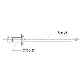 トップ TOP ブラインドリベット 箱入リ SSD-44SSBS [A011917]